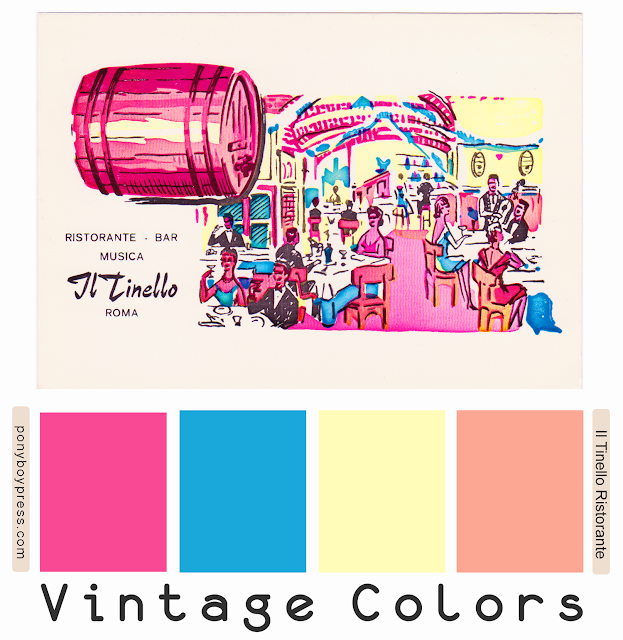 Vintage Color Palette- Il Tinello - See color hex codes and more info on the blog. ponyboypress.com