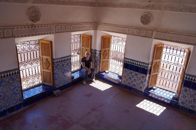 sala interior kasbah de Taourirt