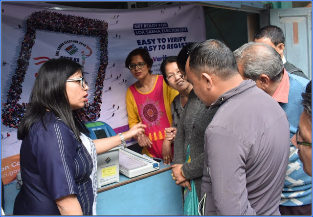 Awareness camp on EVM machine at Mungpoo