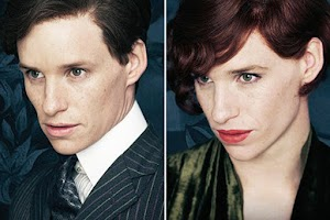 "Eddie Redmayne in the guise of a transsexual in the first posters ""The Danish Girl"""