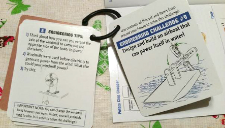 Maker Studio Propellers Building Kit engineer challenge cards