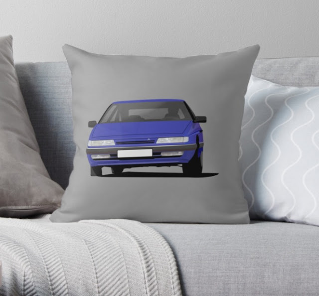 Citroen XM home decor throw pillow