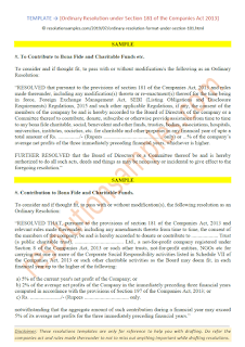 special resolution under section 181 of the companies act 2013