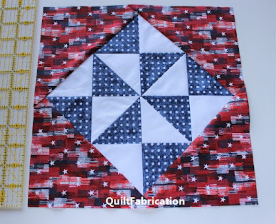 Holiday Stars full block by QuiltFabrication