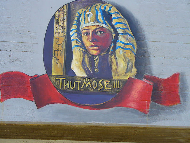 Thutmose III - Wall painting in Acre, Israel