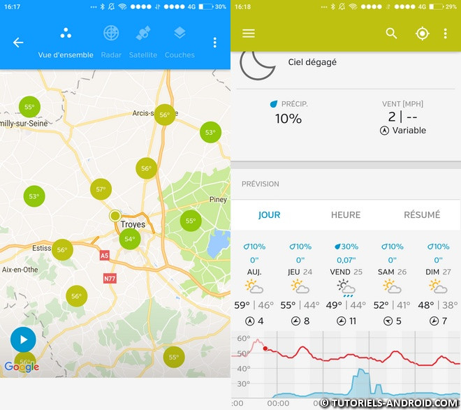 Weather Underground pour Android