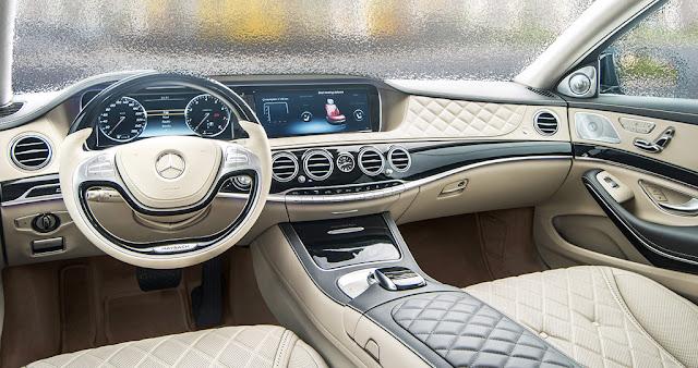 Nội thất Mercedes Maybach S500 2017 được làm từ các chất liệu cao cấp và hạng đầu hiện nay