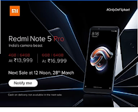 Redmi Note 5 & Note 5 Pro Sale 28th March 2018 at 12 PM
