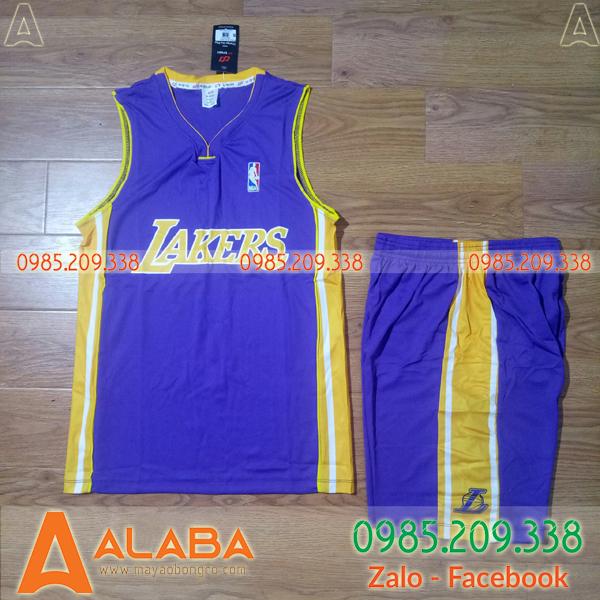 Áo bóng rổ Lakers xịn chất mát