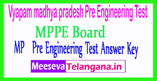 Madhya Pradesh Vyapam Pre Engineering Test MP PET Answer Key 2018 Download