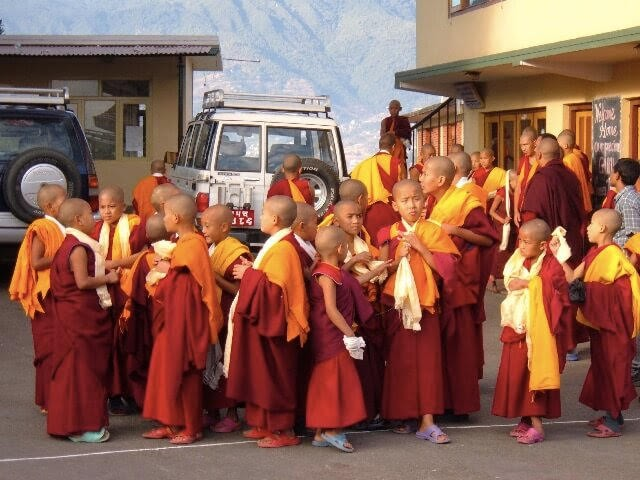 Little Buddhist Monks at Kopan Monastery