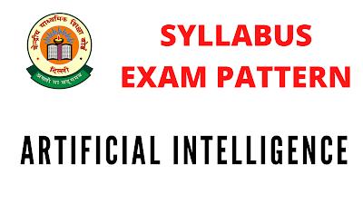CBSE Artificial Intelligence (417) Syllabus