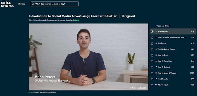 دورة skillshare لتعلم التسويق عبر السوشيال ميديا