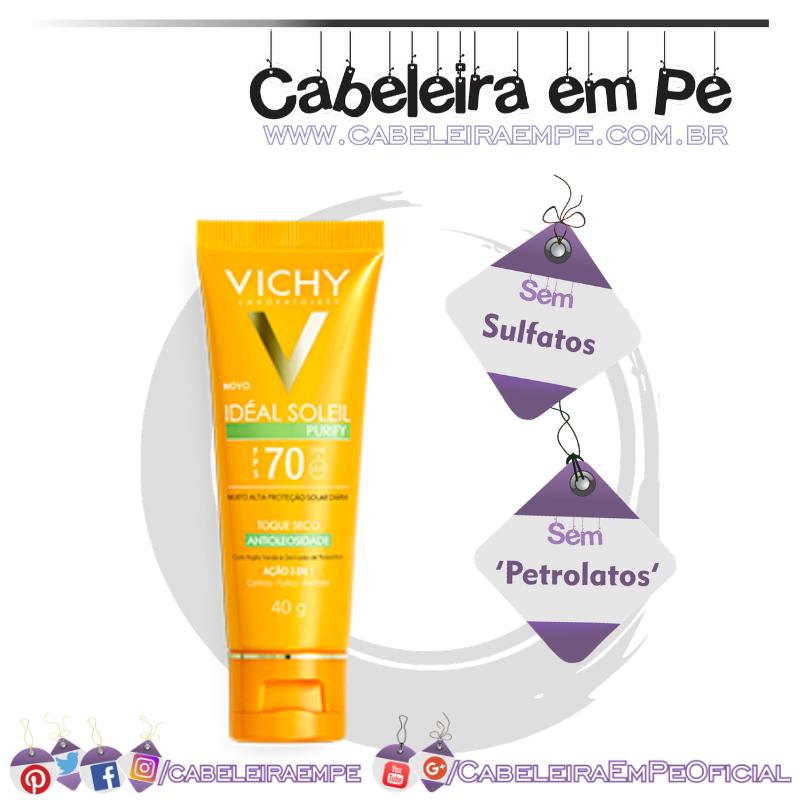 Protetor Solar Facial Ideal Soleil Purify FPS70 - Vichy