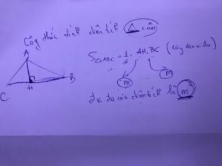 công thức tính diện tích tam giác cân | toán lớp 3 + lớp 4