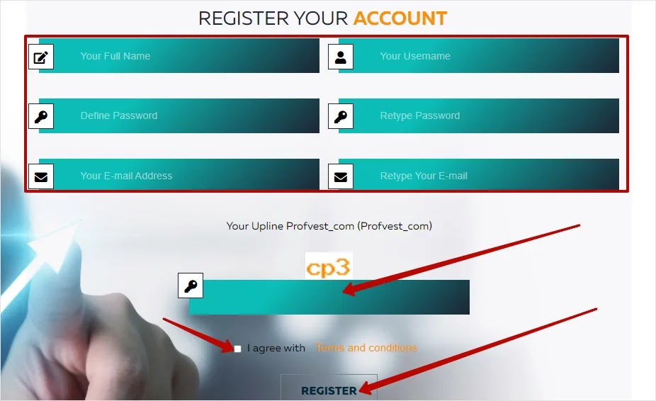 Регистрация в Infinite-Profit 2