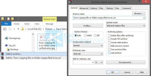 """Cara mengatasi error ketika copy file atau folder di laptop/komputer dengan pesan """"Error copying file or folder unspecified error, access denied"""" di Windows 7/8/10."""