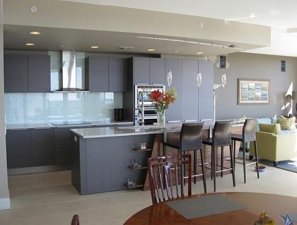 Diseños de cocinas modernas color gris - Colores en Casa