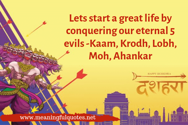 Happy Dussehra Greetings & Wishes in 2019