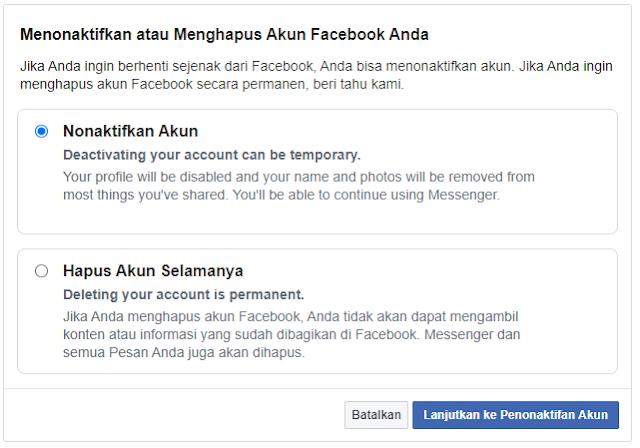 Cara Menonaktifkan Akun Facebook untuk Sementara