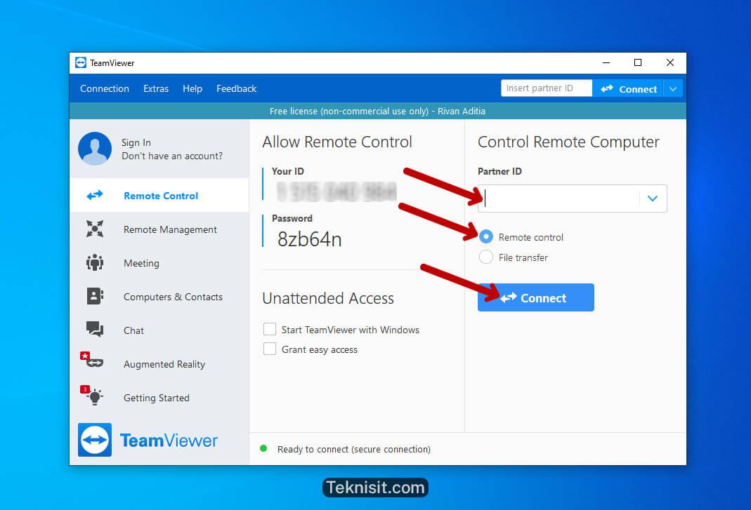 Cara install TeamViewer di Windows 10