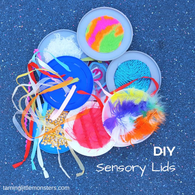 activities for babies - diy sensory lids