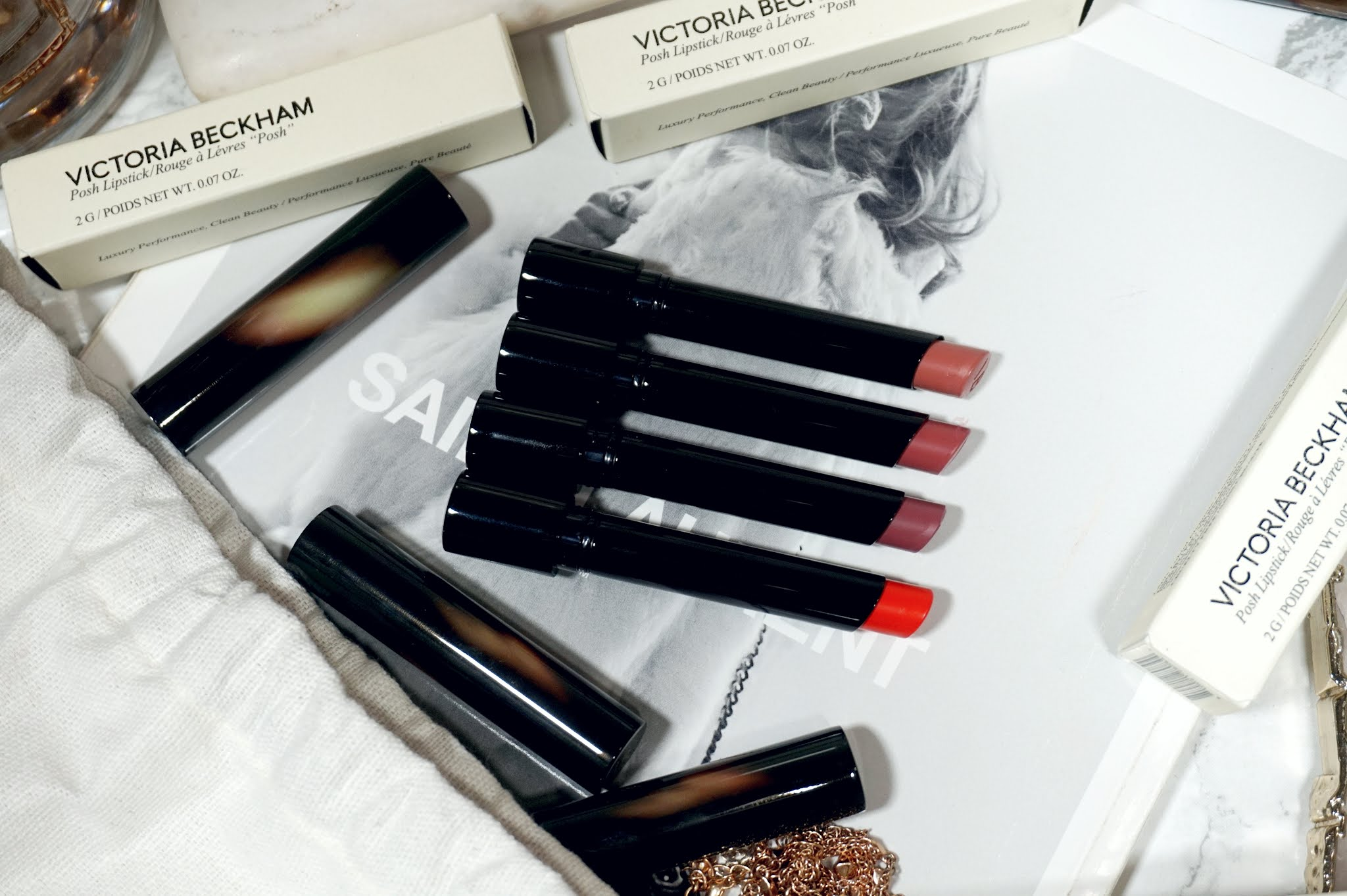 Victoria Beckham Beauty Posh Lipstick (2021 Release) Review and Swatches