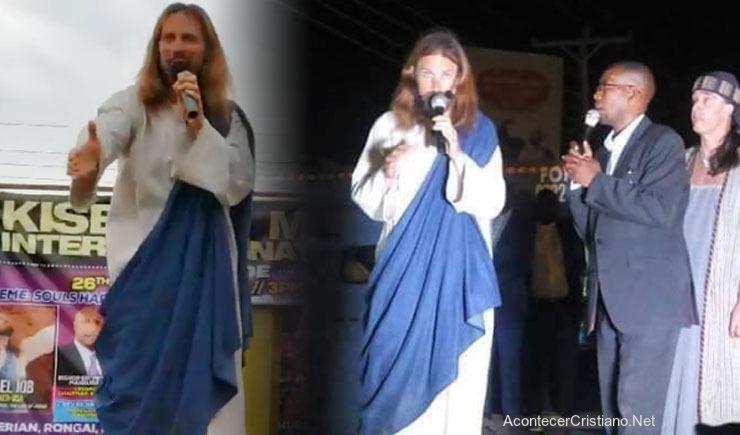 Evangelista Michael Job vestido como Jesús