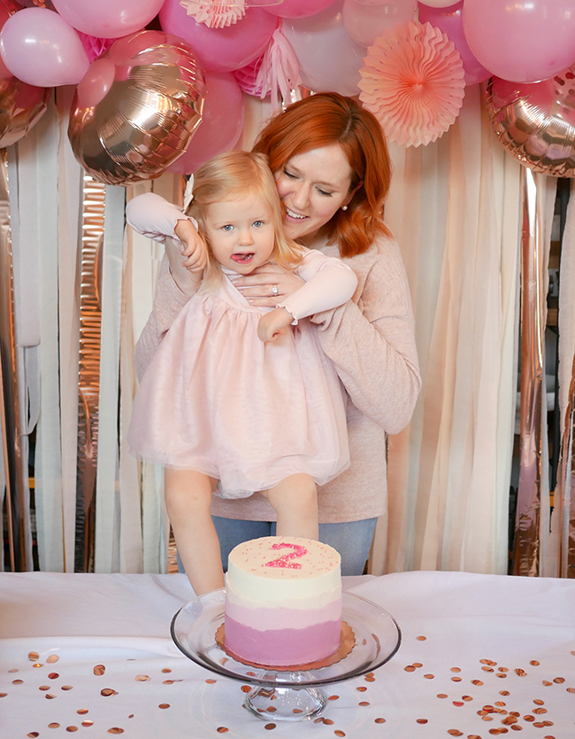 What to wear when you and your daughter share a birthday, matching pink outfit ideas