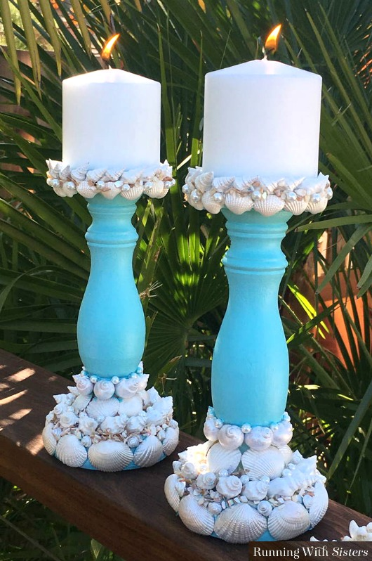 DIY Sea Shell Candle Holders