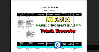 SILABUS MAPEL INFORMATIKA SMP: TOPIK TEKNIK KOMPUTER
