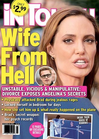 They say that Angelina Jolie used to 'beat' Brad - & stayed in 'their own wings' at their mansion estate while their marriage fell apart