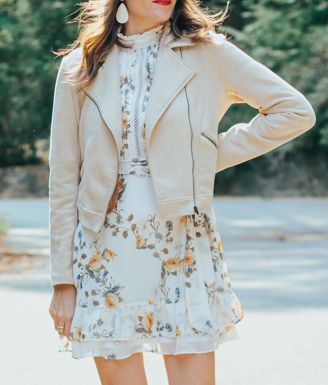 Layering a floral dress