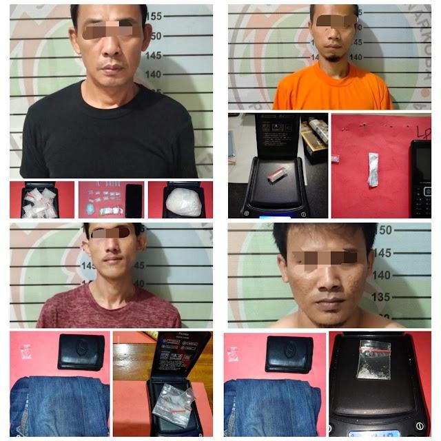Satres Narkoba Polres Lampung Utara Kembali Meringkus Empat Pelaku Penyalahguna Narkoba