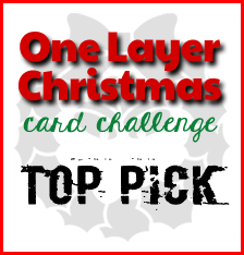 One Layer Christmas Card #23