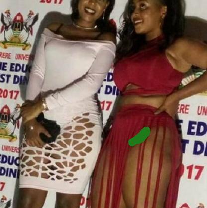 makerere university student indecent clothes party