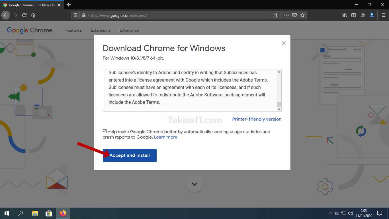 Cara menginstal Chrome di laptop