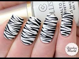 Nail Art of Half Zebra