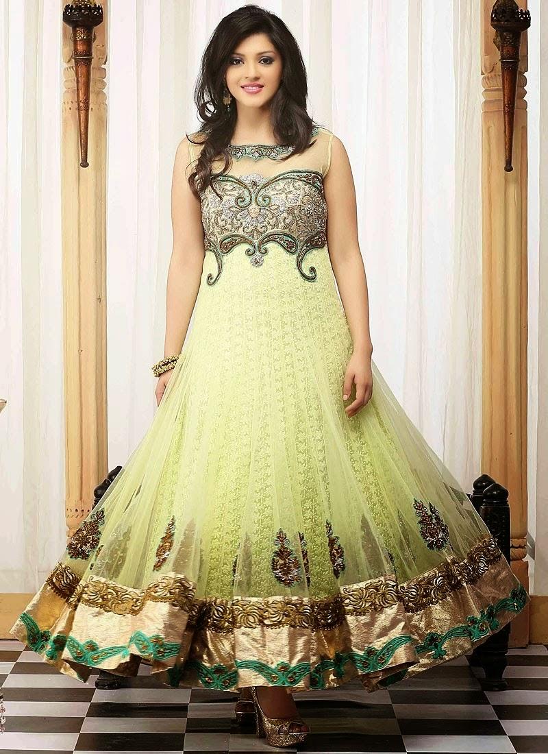 439aede02c Embroidered Evening Wear Anarkali Dresses 2014-15 - Pakistani Fashion,Indian  Fashion,International Fashion,News and Updates