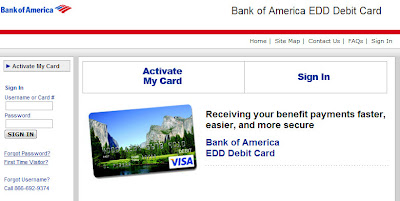 edd unemployment bank of america