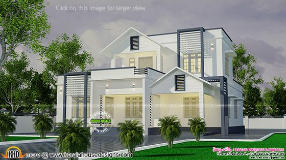 Beautiful white villa plan