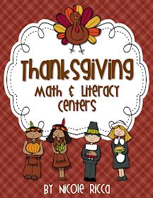 Thanksgiving Math & Literacy Centers + FREEBIE