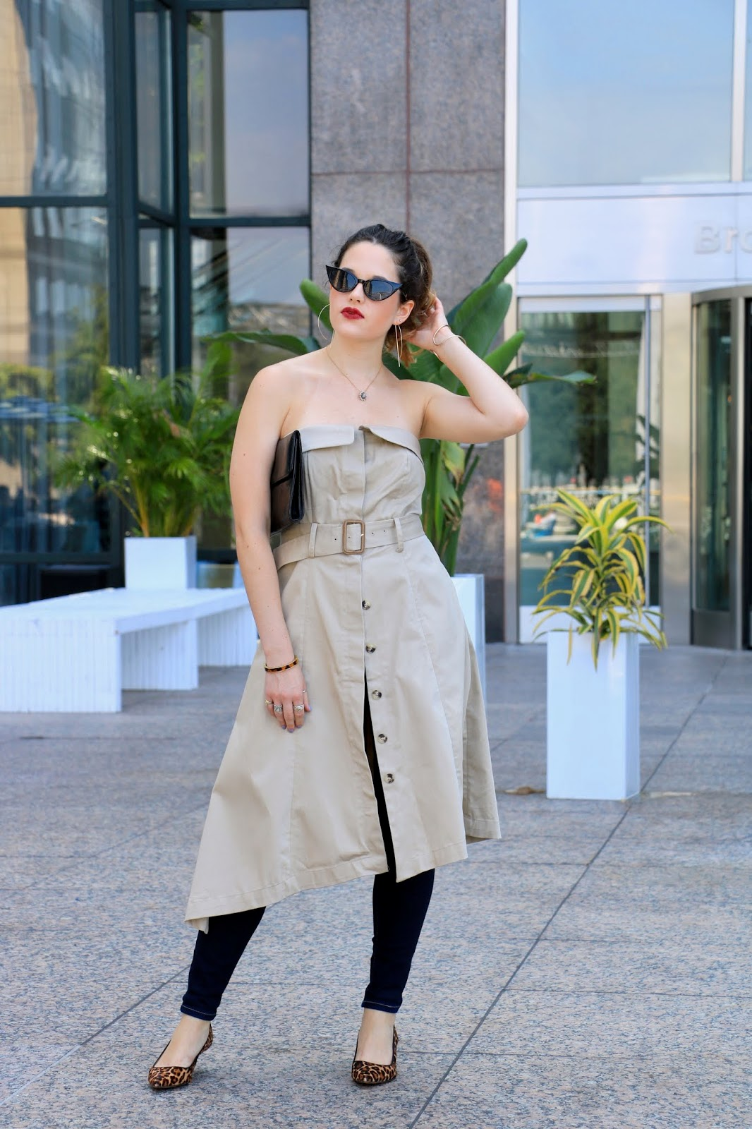 Nyc fashion blogger Kathleen Harper showing how to wear pants with a dress