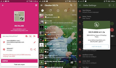 BBM Mod Delta v4.1.0a Base BBM V3.2.5.12 Apk