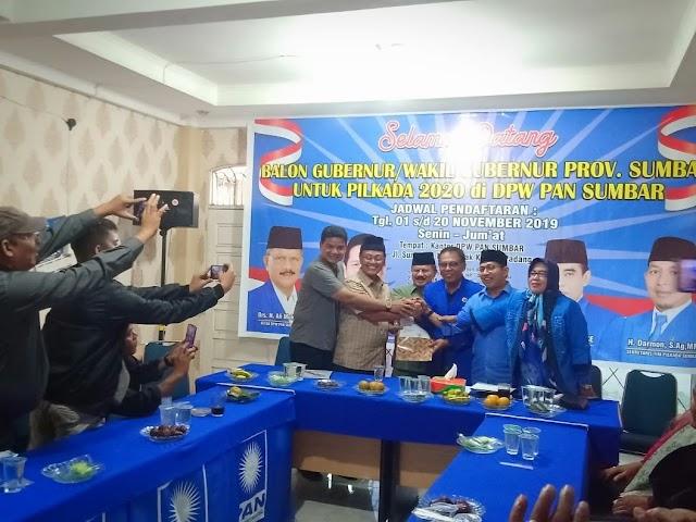 Indra Catri dan Ali Mukhni Kompak Datangi PAN