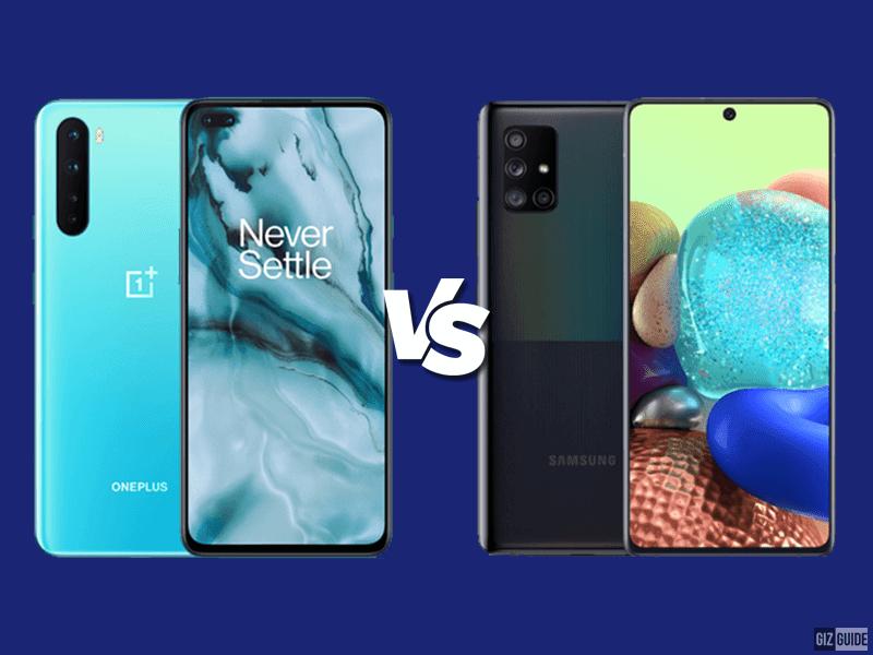 OnePlus Nord vs Samsung Galaxy A71 Specs Comparison