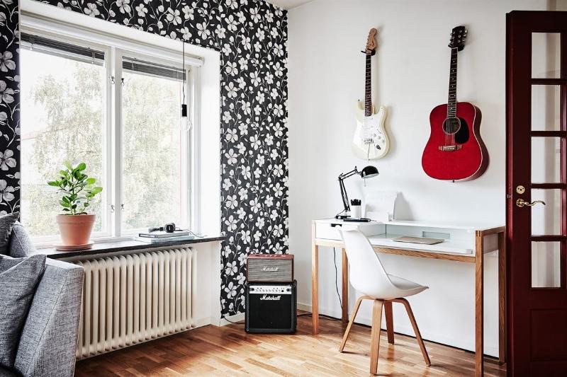 Bonitos papeles pintados en vivienda de estilo nórdico by Habitan2