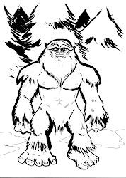sasquatch drawing bigfoot cartoon draw yeti finding drawings feet timberline cryptozoology myths yowie coloring visit getdrawings imgarcade
