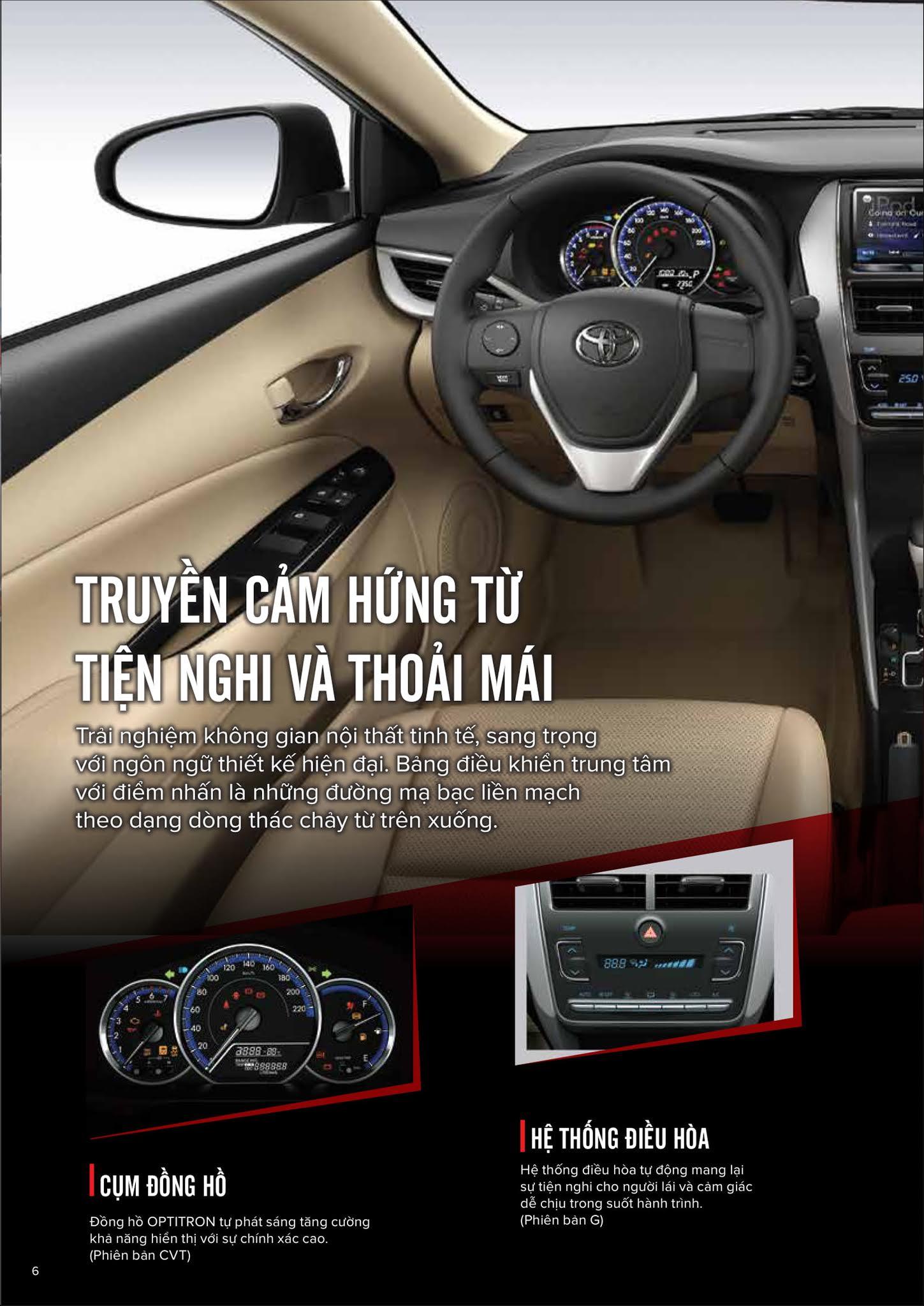Bảng thông số kỹ thuật Toyota Vios 1.5E CVT 2019