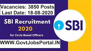 SBI Circle Based Officer Vacancy 2020